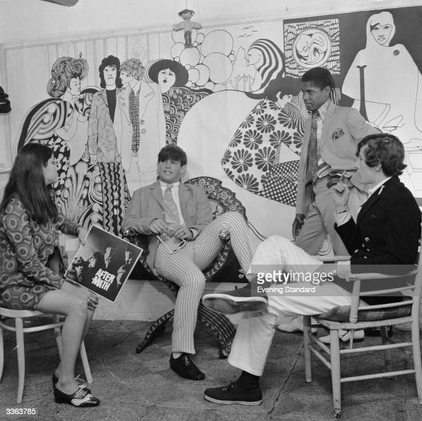 Fab fellers and groovy chicks hang out together at 'Hung On You' boutique in Chelsea's Cale Street London No shopping experience would be complete...