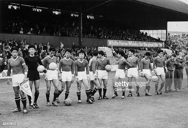 The North Korean team just before their World Cup match against Italy at Middlesbrough They won the match 10