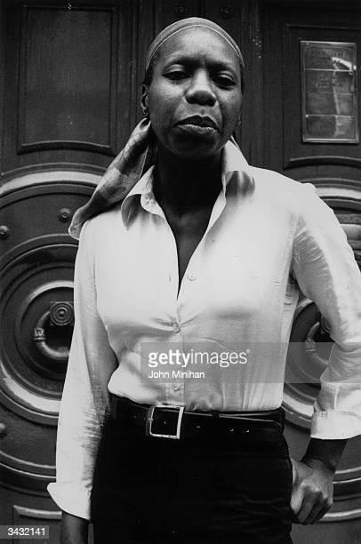 American jazz singer Nina Simone .