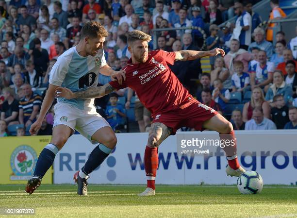 19th July 2018 Ewood Park Blackburn England Pre Season football friendly Blackburn Rovers versus Liverpool Daniel Sturridge of Liverpool gestures to...