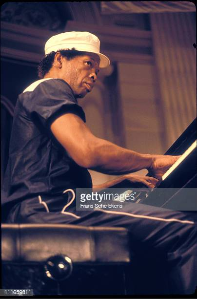 19th JULY: pianist Don Pullen performs live on stage at the Concertgebouw in Amsterdam, Netherlands on 19th July 1983.