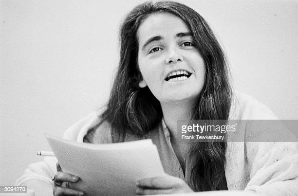 US feminist Kate Millett at a poetry conference in London