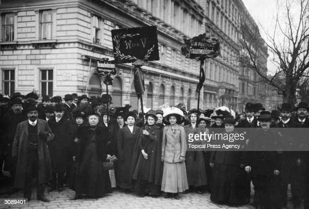 A suffragette demonstration in Vienna Austria