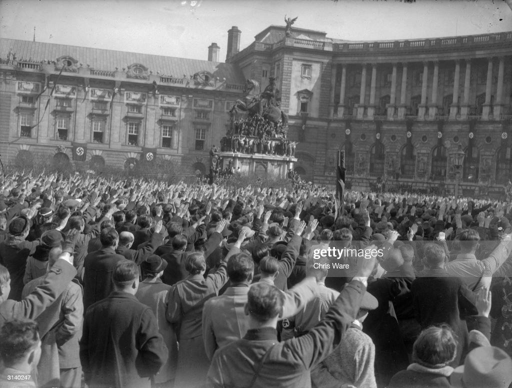 Austrian fascists parading through Vienna after the Anschluss.