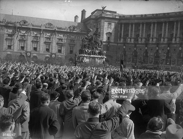 Austrian fascists parading through Vienna after the Anschluss