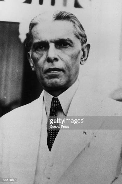 Indian statesman Muhammad Ali Jinnah leader of the Indian Muslim League and driving force in the creation of the independent Muslim state of Pakistan...