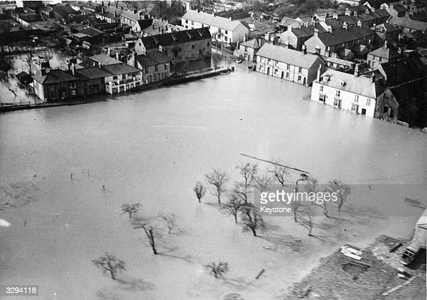 Huge area around Ely, Cambridgeshire under water after particularly severe flooding.