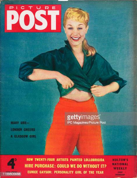 Scottish stage and film actress Mary Ure is featured for the cover of Picture Post magazine Original Publication Picture Post Cover Vol 66 No 12 pub...