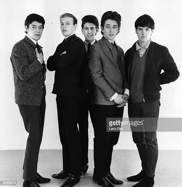 British pop group The Hollies who are Allan Clarke Bobby Elliot Graham Nash Tony Hicks and Eric Haydock