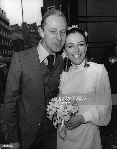 Actor Jeremy Child and actress Debbie Grant at their wedding at Caxton Hall in London