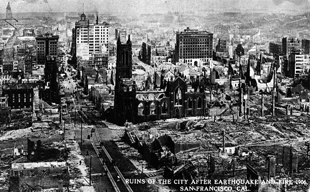 The ruins of San Francisco after the terrible earthquake...