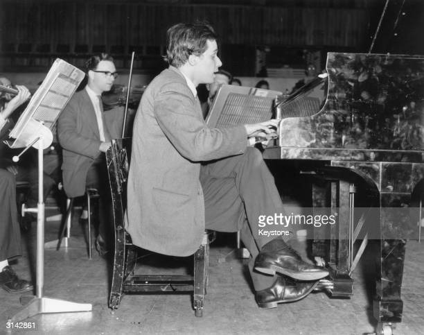 Glenn Gould's idiosyncratic approach to classical music brought both praise and critisicm in equal parts. Here he is pictured during rehearsals for a...
