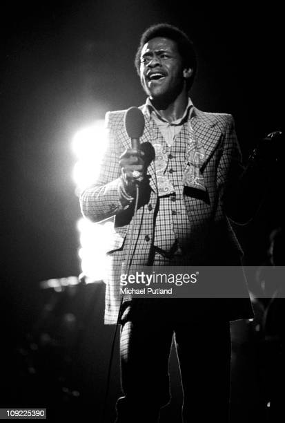 American singer Al Green performs on stage, London, 19th May 1973.