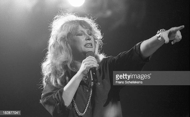 Russian singer Alla Pugacheva performs live on stage at the Carré in Amsterdam Netherlands on 19th May 1987