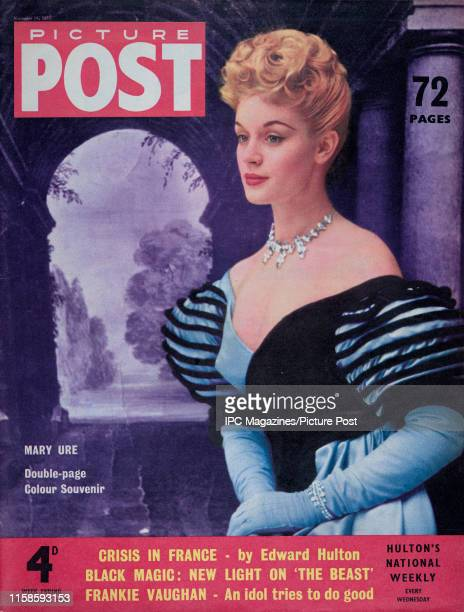 Scottish stage and film actress Mary Ure as she appears in the film 'Storm Over the Nile' is featured for the cover of Picture Post magazine...