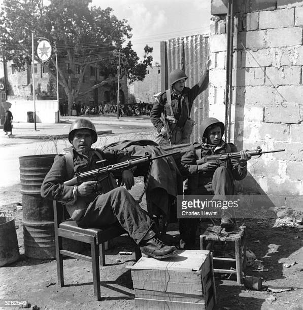 Israeli troops guarding their reclaimed territory of the Gaza strip Original Publication Picture Post 3738 In Gaza Israel Clears Up pub 1956
