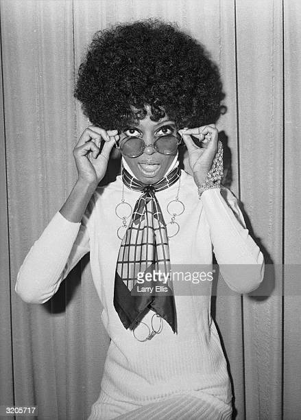 Singer Diana Ross at he headquarters of EMI Records