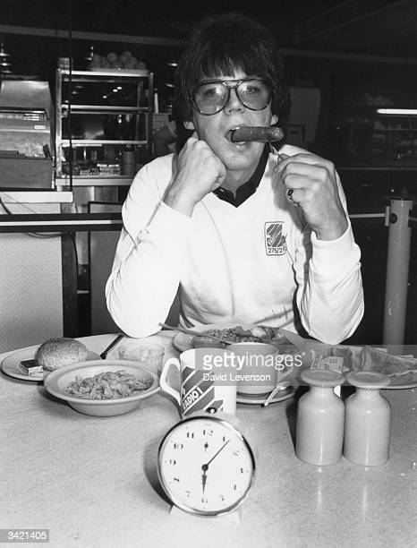Disc jockey Mike Read having an early breakfast as he prepares to take over the Radio 1 breakfast show from Dave Lee Travis