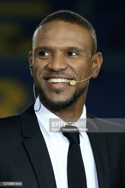 19th October 2016 UEFA Champions League Group C FC Barcelona v Manchester City Eric Abidal smiles as he works as a pitchside pundit for television...