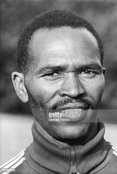 Kenyan middle-distance runner Kip Keino during a training session at Crystal Palace.