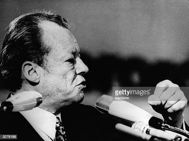 German Chancellor Willy Brandt in the German Lower House