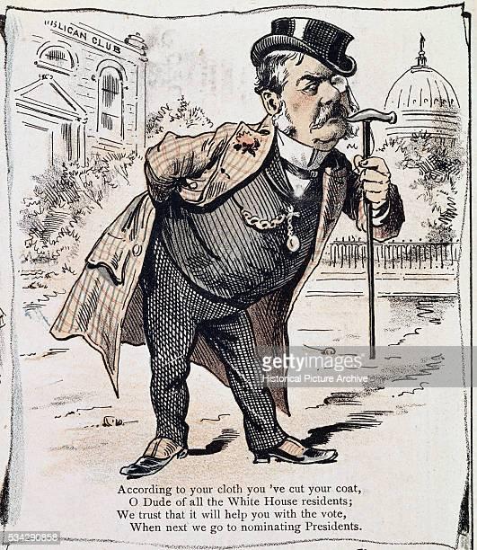 19thCentury American Caricature of Chester Arthur