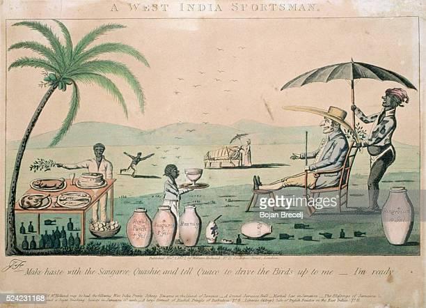 19thCentury Cartoon Satirizing Colonial Rule in Jamaica