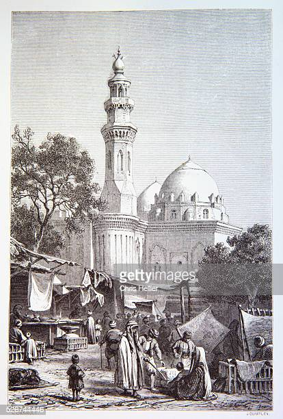 19thCentury Engraving of Sultan Hassan Mosque