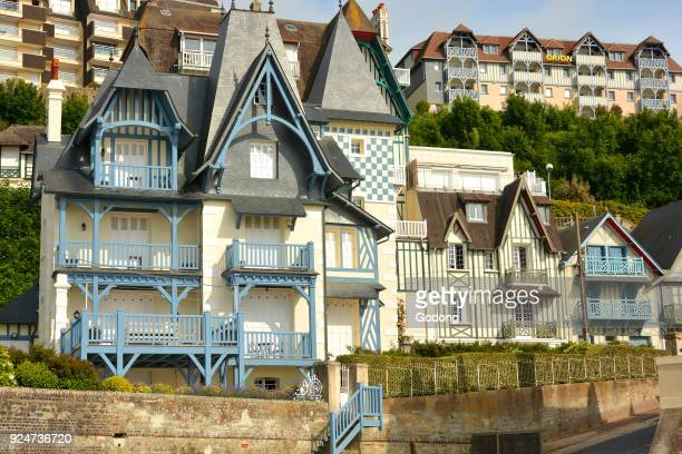 19th-century houses in Trouville-sur-Mer. France. .