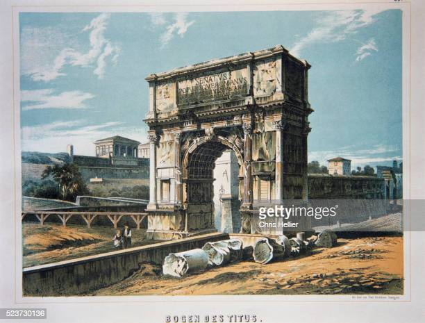 19th-Century Lithograph of the Arch of Titus