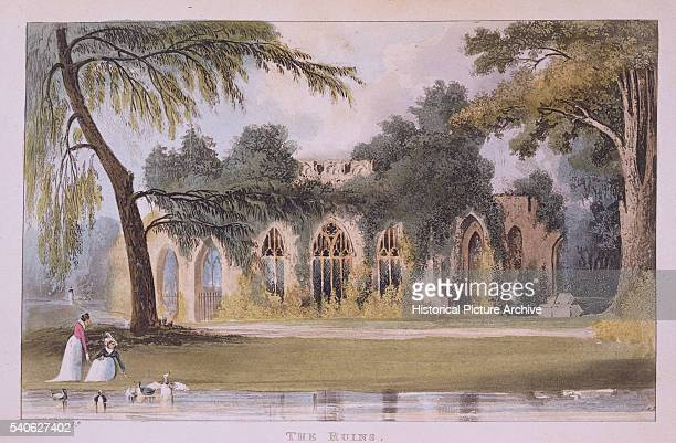 19thCentury Print of Frogmore House in Windsor England