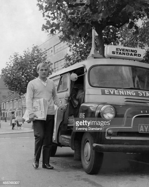 Year-old David Donovan, Evening Standard deliveryman and junior karate champion, Upton Park, London, October 1966.