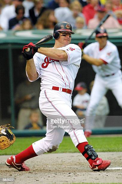 Jim Thome of the Cleveland Indians in action against the Kansas City Royals at Jacob's Field in Cleveland, Ohio. The Royals won 13-11 . DIGITAL...