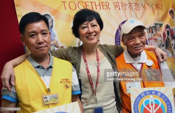 1Lo Chunfat 57 and Cheung Wahon who recovered from cancer both said they received great happiness from the volunteer work in public hospital while...