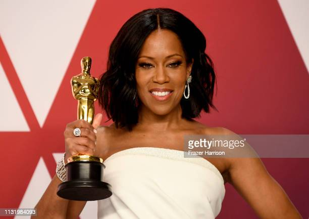 1Regina King winner of Best Supporting Actress for 'If Beale Street Could Talk' poses in the press room during the 91st Annual Academy Awards at...
