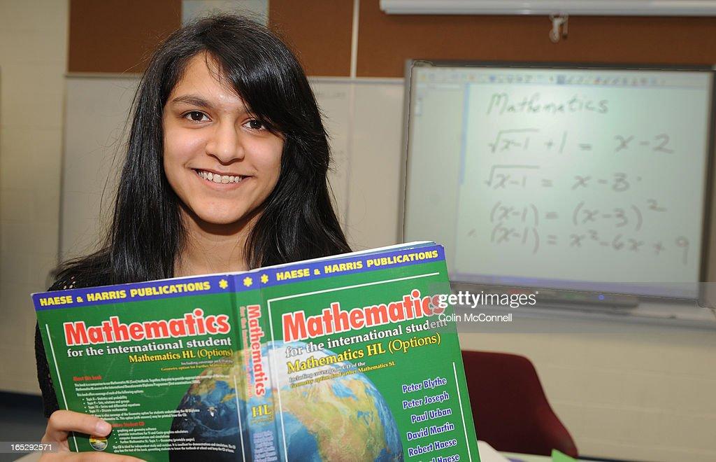 MAR 1st 2010.pics of. mubina chunara,15 yrs in her math class at turner fenton secondary school in b : News Photo