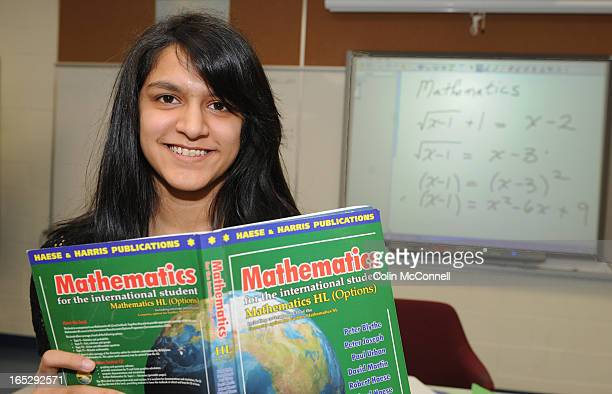 MAR 1st 2010pics of mubina chunara15 yrs in her math class at turner fenton secondary school in bramptonto go with story about girls who like math...