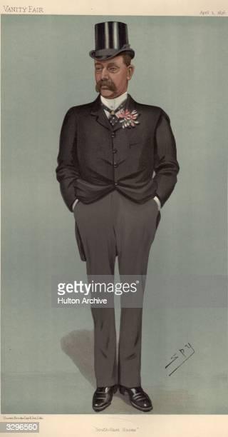 British Politician Major Frederic Carne Rasch Caricature by Spy Vanity Fair Statesmen No 667 pub1896