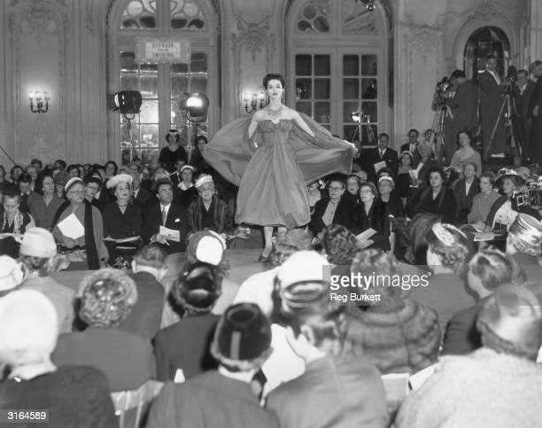 Leading French Fashion Houses display their wares on the catwalk of London's Savoy Hotel where the French fortnight is staged