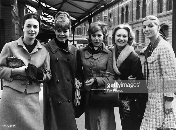 Franciose St Laurent Fanny Kholer Sophie Chudde D Patisson and Kate Noel arrive in London from France for a fashion show