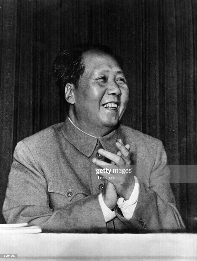 Chinese communist leader, Chairman Mao Tse Tung (Mao Zedong) (1893 - 1976) enjoys himself at the Ninth Chinese Communist Party Congress.