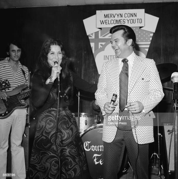 American singers Loretta Lynn and Conway Twitty performing at the fourth International Festival of Country Music, held at the Empire Pool, Wembley.