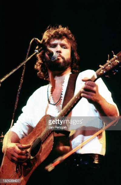 American singer and actor Kris Kristofferson performs live on stage in Copenhagen Denmark in April 1972