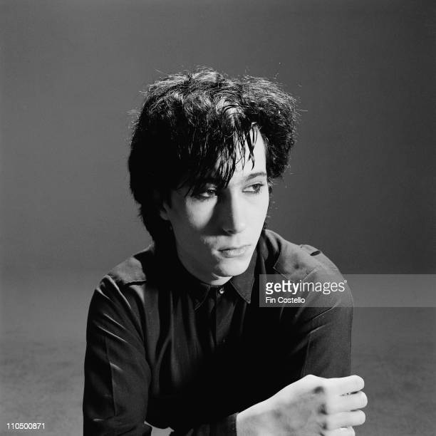 Composer and keyboard player Richard Barbieri from Japan and later Porcupine Tree posed in London in April 1982
