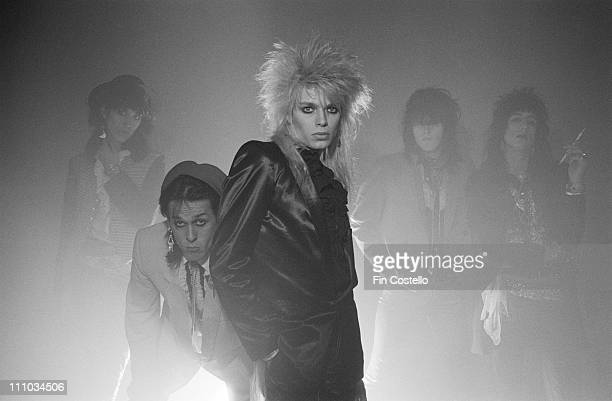 Finnish band Hanoi Rocks posed in Islington London in April 1983 The line up features Michael Monroe Razzle Andy McCoy Nasty Suicide and Sami Yaffa