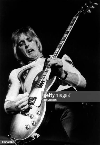 Guitarist Mick Ronson performs live on stage with The Hunter Ronson Band at Colston Hall in Bristol England on 1st April 1975
