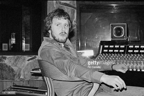 1st APRIL: Music producer Martin Birch posed at the mixing desk while working with Rainbow on the album 'Rainbow Rising' at The Record Plant in Los...