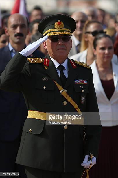 1st Army Commander Musa Avsever attends ceremony at Taksim Republic Monument to mark 94th Anniversary of Turkeys Victory Day in Istanbul, Turkey on...
