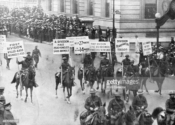 US 1st Army in the Victory Parade New York USA 10 September 1919