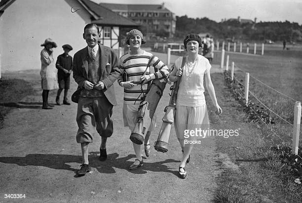 Mr Herbut Mary Leigh and Joy Middleton at the golf course in Le Touquet